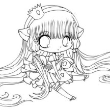 Cute Chi Chibi Drawing Coloring Page