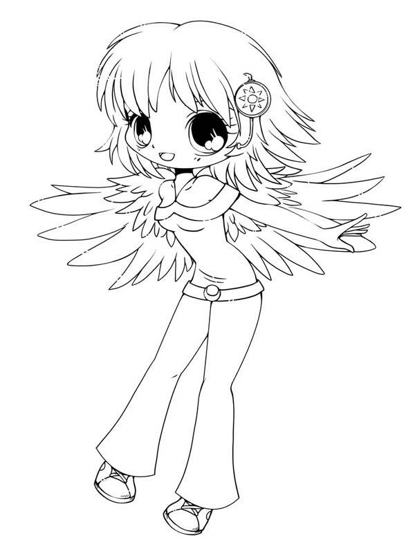 Cute Delilah Chibi Drawing Coloring