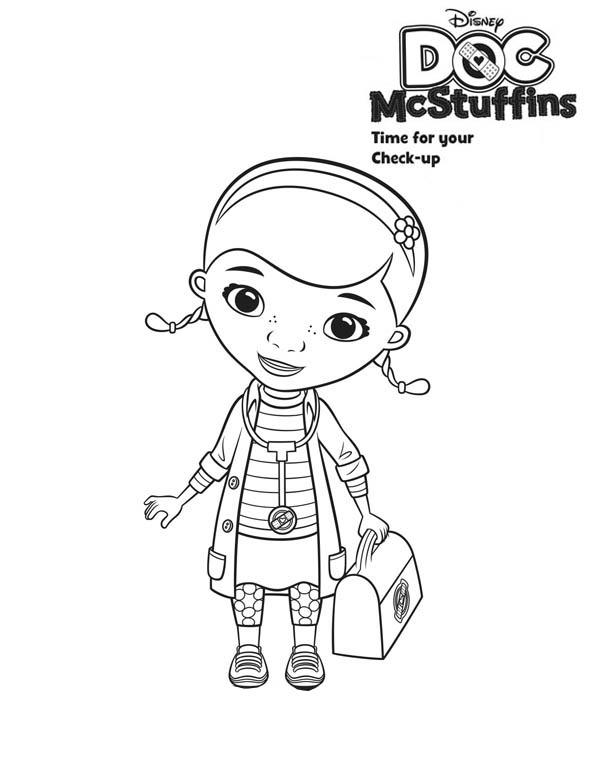 Cute Doc McStuffins Coloring Page - NetArt