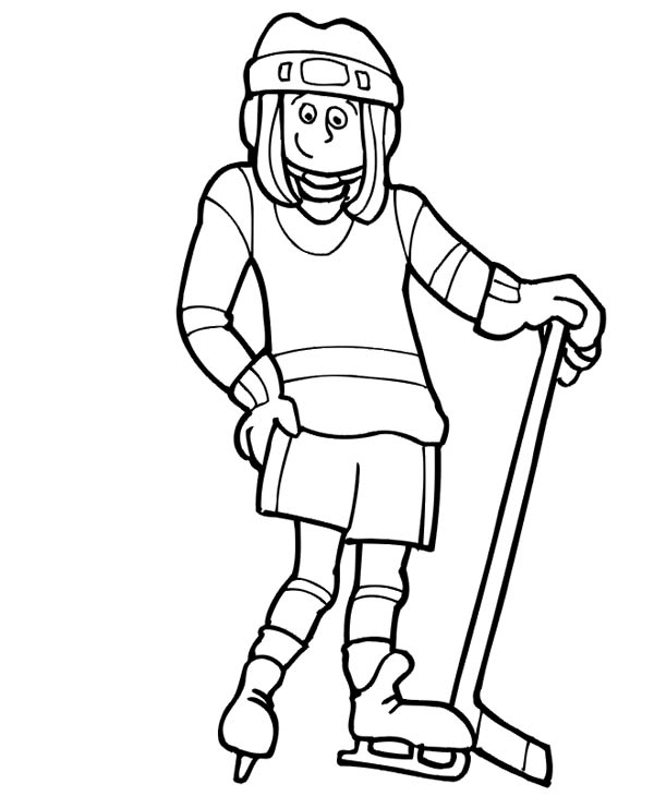 fascinating hockey player coloring page – littapes.com | 741x600