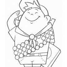 Cute Russell Picture in Disney Up Coloring Page