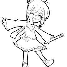 Cute Shugo Chara Chibi Drawing Coloring Page