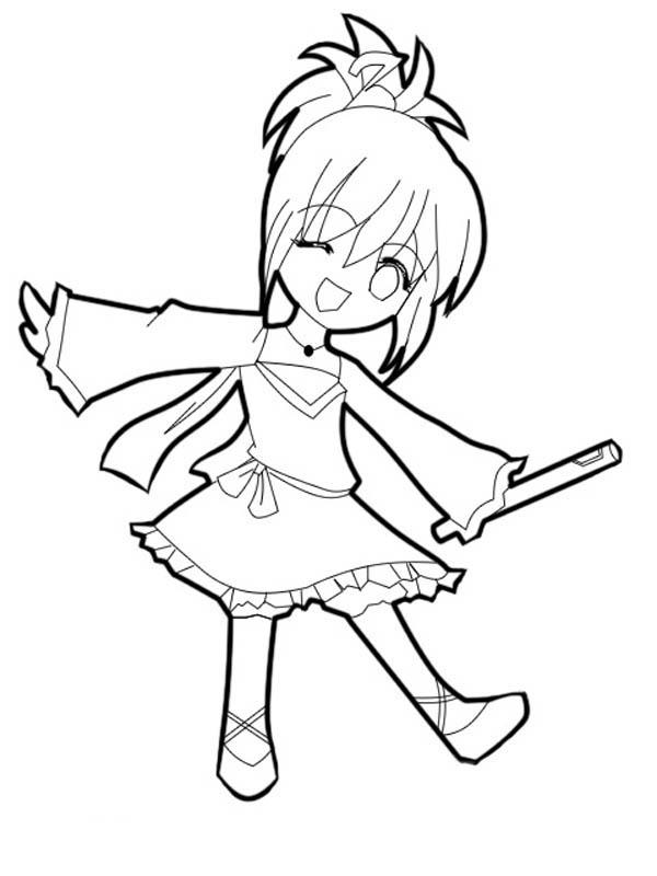 cute shugo chara chibi drawing coloring page netart