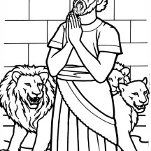 Daniel Pray to God in Daniel and the Lions Den Coloring Page