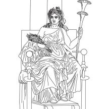 Demeter from Greek Gods and Goddesses Coloring Page