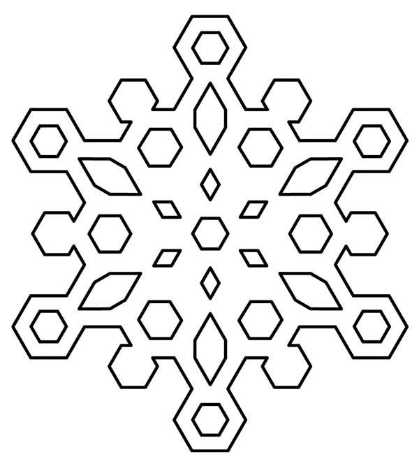 Diamond Snowflakes Coloring Page