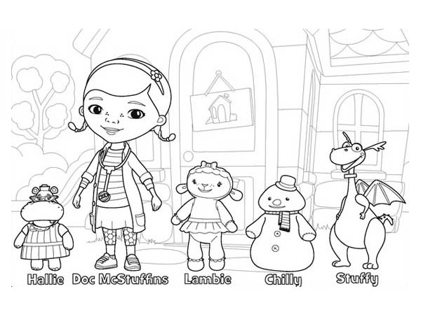 Doc McStuffins and Friends in Doc McStuffins Coloring Page
