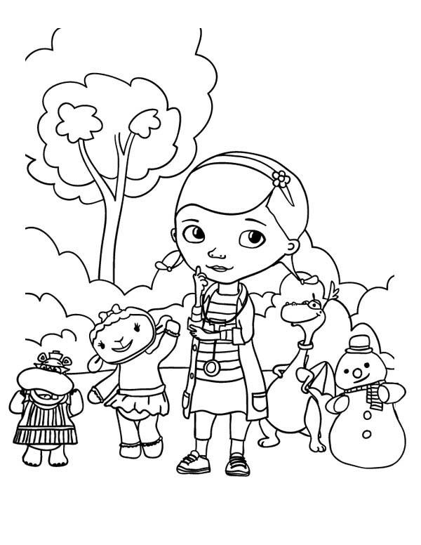 free dr mcstuffin coloring pages - photo#35