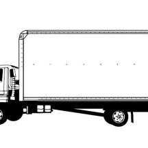 Drawing Semi Truck Coloring Page