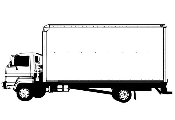 how to draw a truck and trailer