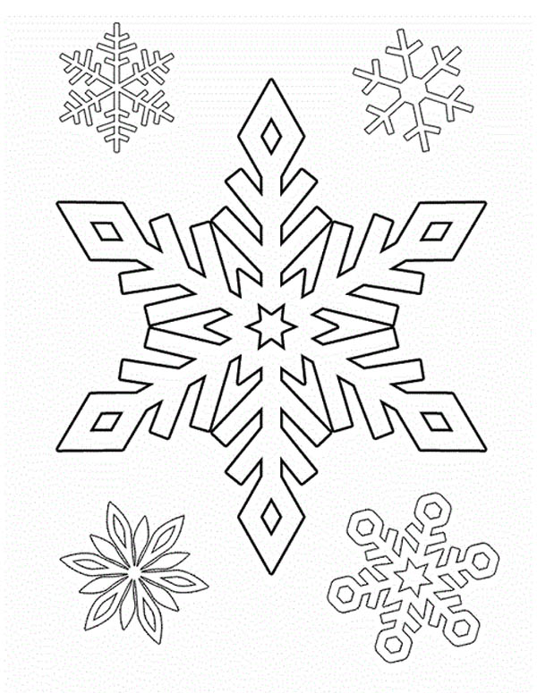 Drawing Snowflakes Coloring Page