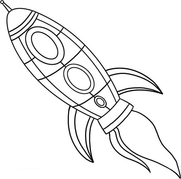 Drawing Spaceship Coloring Page Netart