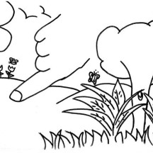 Drawing of Garden of Eden Coloring Page