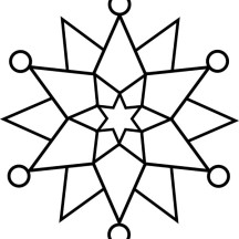 Elegant Snowflakes Coloring Page