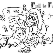 Fall Leaf is Fun Coloring Page