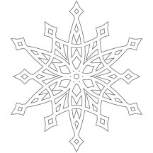Fancy Snowflakes Coloring Page