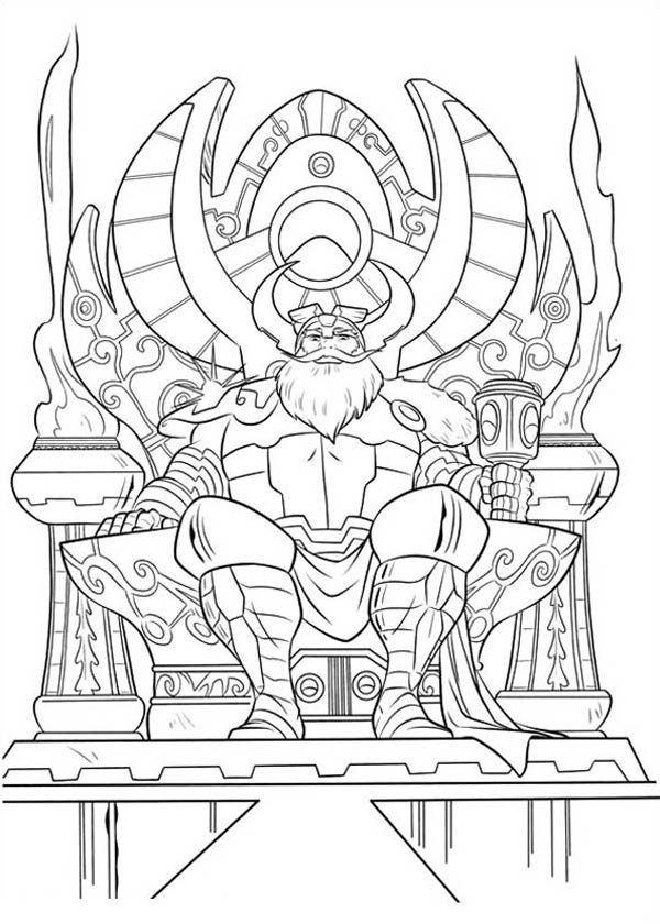 Father of Thor Coloring Page