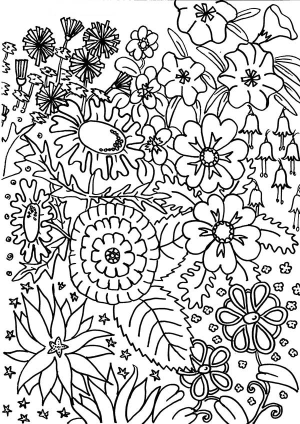 Flower in My Garden Coloring Page