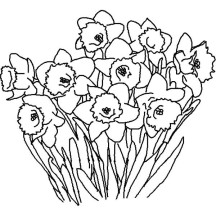 Flower in the Garden Coloring Page