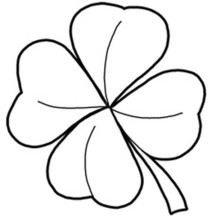 Four-Leaf Clover, a Symbol of Good Luck Coloring Page