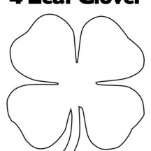 Four-Leaf Clover for Good Luck Coloring Page