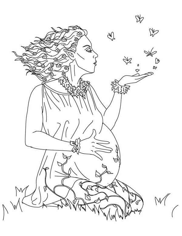 Gaia from Greek Gods and Goddesses Coloring Page