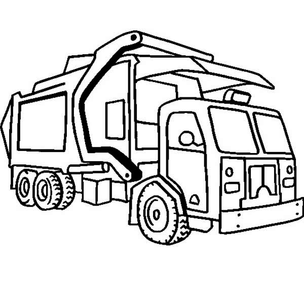 Recycling Garbage Truck Coloring Pages - Download & Print Online Coloring  Pages for Free | Color Nimbus | 600x600