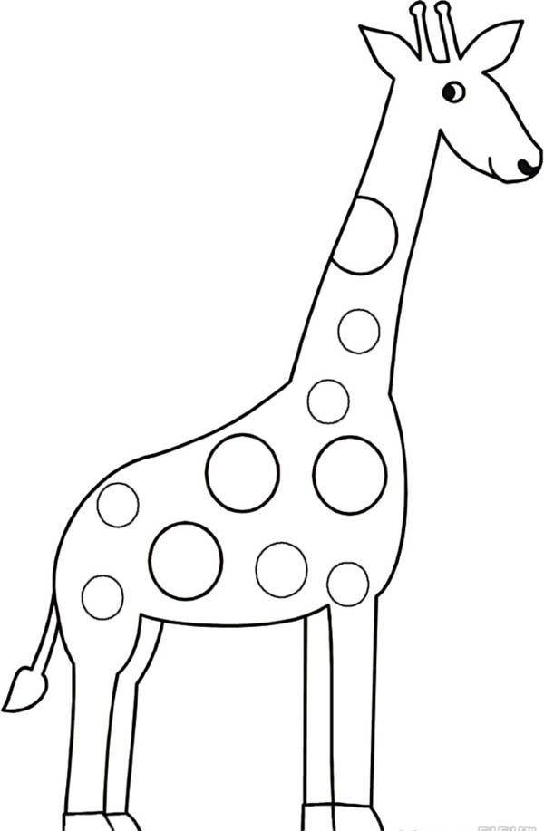 Giraffe Drawing Coloring Page