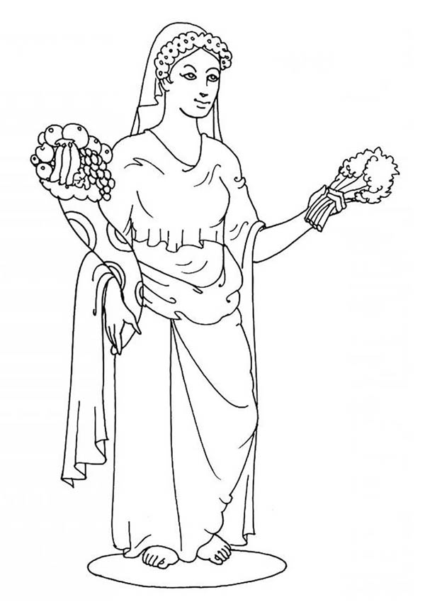 greek gods pictures printable coloring pages | Goddes Demeter from Greek Gods and Goddesses Coloring Page ...