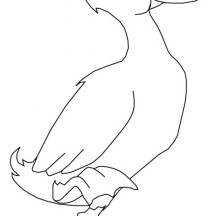 Goose Stand with One Foot Coloring Page