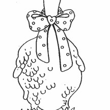 Goose with Bow Tie Coloring Page