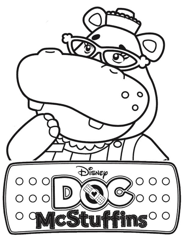 Hallie the Hippo of Doc McStuffins Coloring Page