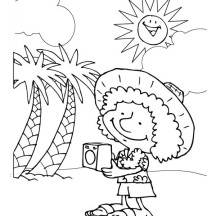 Hawaiian Holiday for Tourist Coloring Page