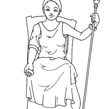 Hera from Greek Gods and Goddesses Coloring Page