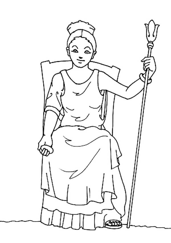 Hera From Greek Gods And Goddesses Coloring Page Netart