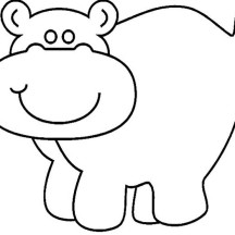 Hippo Drawing Coloring Page