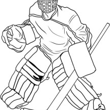 Hockey Goal Keeper Player Costume Coloring Page