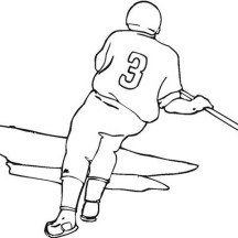 Hockey Player Doing Sprint Coloring Page