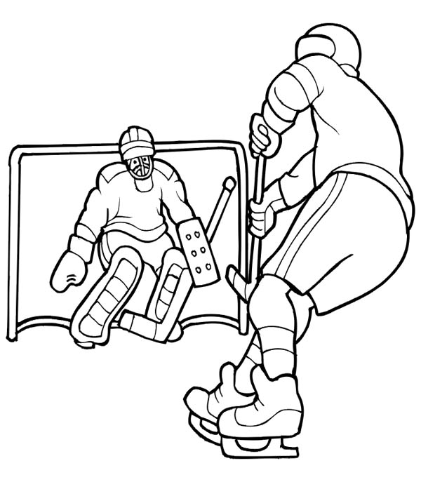 Hockey Player coloring page | Free Printable Coloring Pages | 687x600