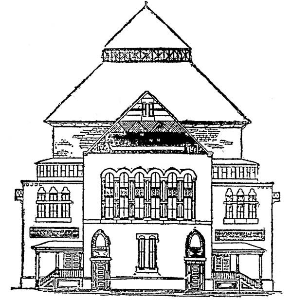 Home Sweet Home in Houses Coloring Page