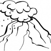 Hot Ash Cloud of Volcano Coloring Page