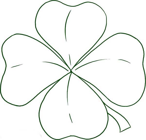 How to Draw Four-Leaf Clover Coloring Page