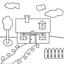 How to Draw a House in Houses Coloring Page