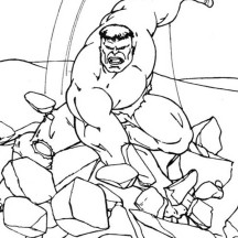 Hulk Smashing Floor Coloring Page