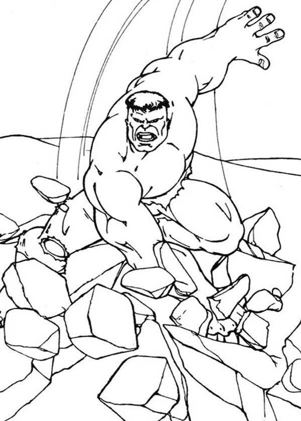 Baby Hulk Free Coloring Pages