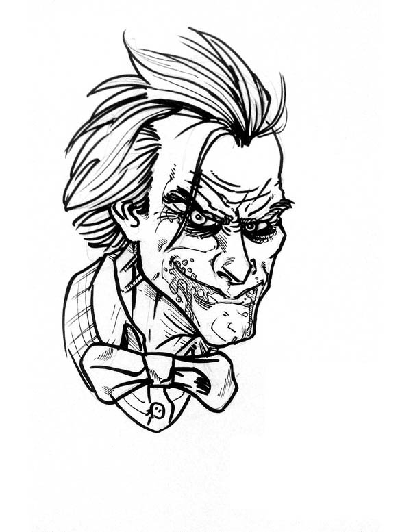 Joker Coloring Page