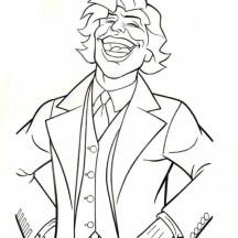Joker Laughing Coloring Page