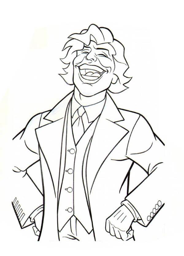 Joker Laughing Coloring Page Netart