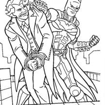 Joker Lose to Batman Coloring Page