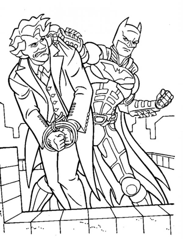 Joker Lose To Batman Coloring Page Netart